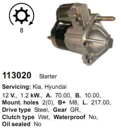 Стартер 113020 CARGO