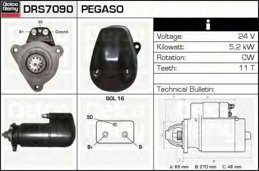 Стартер DRS7090 DELCO REMY