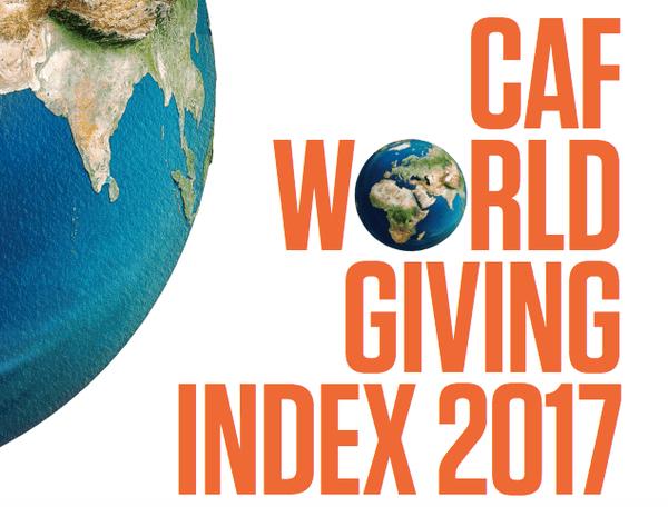 World Giving Index 2017: Украина за свою благотворительность получила 90 место.